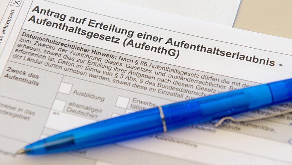 نموذج استمارة التقدم للحصول على إذن الإقامة في ألمانيا